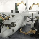 Image - Robotic laser system strips paint from aircraft