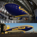 Image - Goodyear unveils larger, faster airship; first to feature semi-rigid construction
