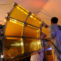 Image - DARPA's impressive folding space telescope trades glass optics for lightweight polymer membranes