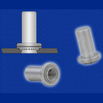 Image - Fasteners: Self-clinching blind nuts feature 'closed-end' design