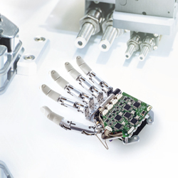 Image - Small motors power bionic hand prosthesis