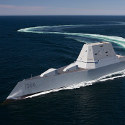 Image - U.S. Navy commissions electric-propulsion stealth destroyer