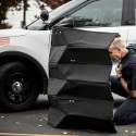 Image - Bullet-resistant Kevlar foldable shield aims to protect law enforcement