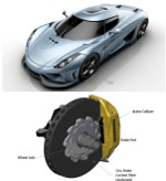 Image - Super car brake cooling simulation with CAD-embedded CFD