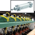 Image - Engineer's Toolbox: <br>Cushioned aluminum cylinders are 'Ideal' enhancement for sawmill performance
