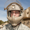 Image - IED-like blast waves simulated against Army helmet prototypes