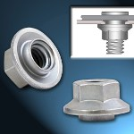 Image - Top Product: Spinning flare nuts eliminate loose fasteners in thin metal sheet applications