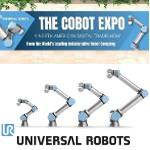 Image - Universal Robots holding virtual Cobot Expo