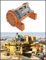 Image - Off-highway: Rotary actuator steering for paver combines power and precision